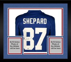 Framed Sterling Shepard New York Giants Autographed Blue Nike Game Jersey   sportsmemorabilia  autograph   bc6b99446