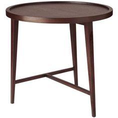 Boston Dark-Wood Side Table, Large