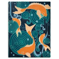 Our gorgeous Koi Pond tile is a scaled version of a mural created for Grand Rapids Art Prize competition.