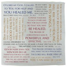 Prayer Cloth - Healing Verses   PRACHEA Healing Verses, Christian Gifts, Communion, Worship, Prayers, Lord, Personalized Items, Clothes, Outfits