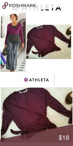 SALE!!  Athleta Wrip Wrap Ballet Sweater Cardigan Perfect pre-owned condition.  This top is soft and the color is rich! Athleta Tops