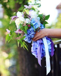 hydrangea and scabiosa bouquet Catherine Muller Flower School Paris & London