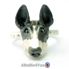 Fully Customized English Bull Terrier Ring, Handmade from 925 sterling silver. by ABullie4You on Etsy https://www.etsy.com/listing/244321671/fully-customized-english-bull-terrier