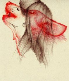 She wolf... Not sure I would want it as a tattoo, but it's an awesome design.