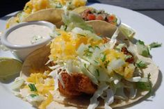 Fish Tacos at the Moonstone Beach Bar & Grill