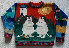 Moomin Sweater Knitting Pattern by amarinalevin