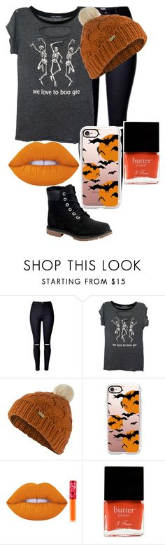 """4 More Days Until Halloween"" by fangirlsfandom ❤ liked on Polyvore featuring Wildfox, Barbour, Casetify, Lime Crime, Butter London and Timberland"