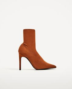 Image 2 of HIGH HEEL SOCK STYLE ANKLE BOOTS from Zara