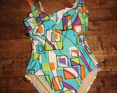 Vintage jaren 90 80s vintage badpak badmode