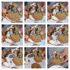 campfire cookies - chocolate chip cookie S'mores via milissweets.com.
