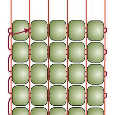 Instrukce pro šití na korálkovém stávku.  Basic Beading on a Loom | Beading Techniques | Fusion Beads