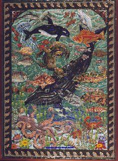 Undersea Mosaic Mural by Sandra and Carl Bryant