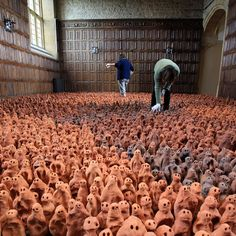 Stunningly creepy. Antony Gormley clay figurines on display at Barrington Court from 28 April to 27 Aug 2012. http://www.nationaltrust.org.uk/home/view-page/item772336/261544/