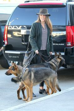 Twilight actress Nikki Reed gets ready to hop on a plane at LAX with her two German Shepherds, Enzo and Mario