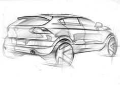 Learn how to draw a car using our step by step tutorials. Sports cars, classic cars, imaginary cars - we will show you how to draw them like the pros. Car Drawing Pencil, Preppy Car, Industrial Design Sketch, Car Design Sketch, Hand Sketch, Car Drawings, Cool Sketches, You Draw, Transportation Design