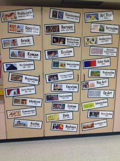 art history wall: I can dream! Or make my own cards...