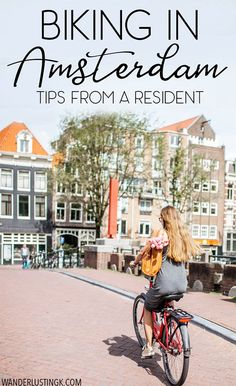 Planning your trip to Amsterdam? 20 must-read tips about biking in Amsterdam that you'll want to know before bicycling in Amsterdam written by a resident on bike rules in Amsterdam, bike etiquette in Amsterdam, and bike rentals in Amsterdam. #biking #amsterdam #netherlands #europe #travel #traveldestinationsamsterdam