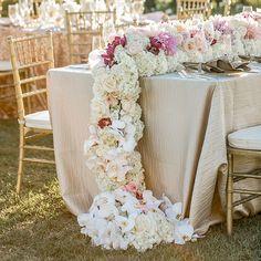 Draping Floral Wedding Centerpiece - ELLEDecor.com