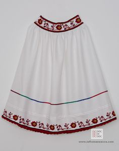 Hand stictceh Romanian traditional skirt from Oas area - Romanian Blouse - Folk costume - ie romaneasca - vyshyvanka - boho style - ethnic bohemian fashion