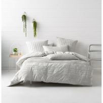 Deco by Linen House Cameron Silver King Cover Set