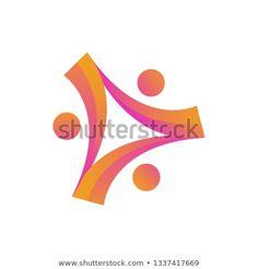 human people charity community unity logo vector icon