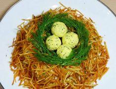 Чтобы удивить гостей, нужно приготовить салат Гнездо глухаря!