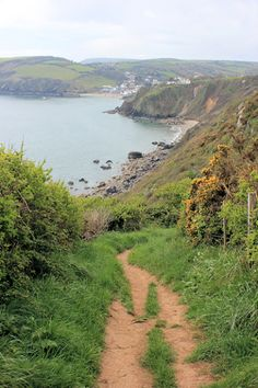path to Gorran Haven, Ruth walking the South West Coast Path, Cornwall....