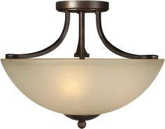 View the Forte Lighting 2574-03 16.5Wx12H 3 Light Semi-Flush Ceiling Fixture at LightingDirect.com.