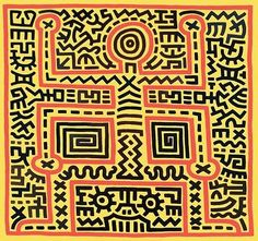 KEITH HARING (1958-1989) A leading Neo-Pop artist, was one of the most…
