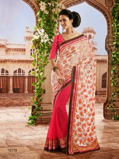 #Designer Sarees#Cream & Pink #Indian Wear #Desi Fashion#Natasha Couture#Indian Ethnic Wear
