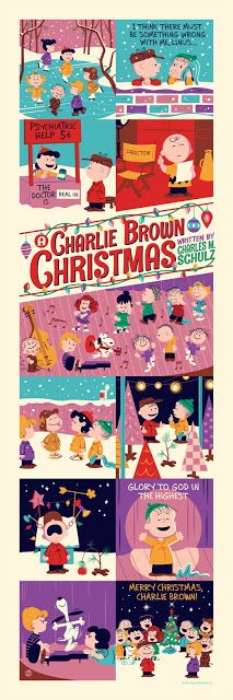A Charlie Brown Christmas - modern design - Snoopy Linus Lucy Peanuts