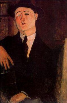 Ritratto di Paul Guillaume di Amedeo Modigliani, 1916. Civica Galleria Civica d'Arte Moderna, Milano