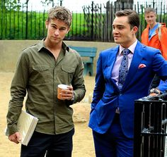 The boys!! So cute!! BOTH of them! | Chace Crawford Ed Westwick
