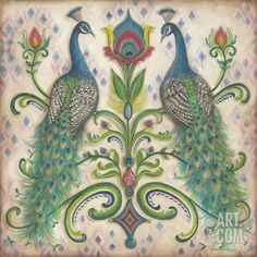 """Feathered Splendor II"" Art Print by Kate McRostie at Art.com"