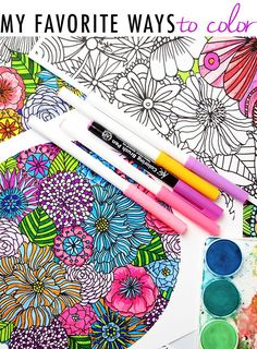 My Favorite Ways To Color And A Free Coloring Download