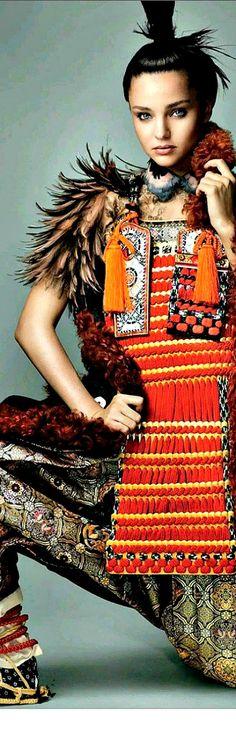 ~Miranda Kerr - Photo by Mario Testino for Vogue   House of Beccaria