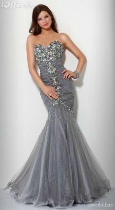 Evening dress bridal formal #dress #long #crystal