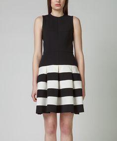 KORTAS Black & White Feba Dress | zulily