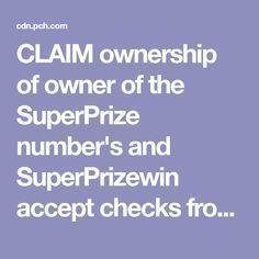 I Brenda Avery CLAIM ownership of owner of the SuperPrize number's and SuperPrizewin accept checks from publishers clearing House accept my request PrizePatrol nock on my door YES please accept Instant Win Sweepstakes, Online Sweepstakes, Lotto Winning Numbers, 10 Million Dollars, Win For Life, Winner Announcement, Lottery Winner, Publisher Clearing House, Congratulations To You