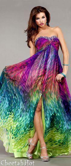 Colorful Prom Gown