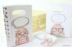 Back to school kids sandwich printable Paper wrap and bag by deborah mindel for cafe-veyafe