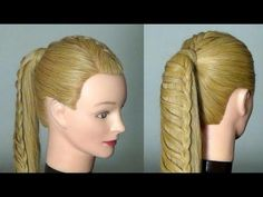Прическа с плетением на длинные волосы. Hairstyles for long hair - YouTube