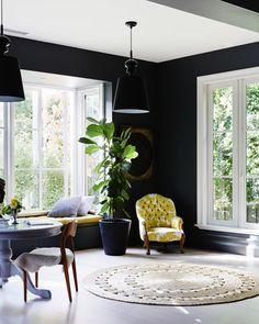 Window nook + dark walls