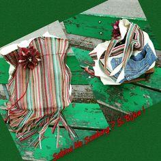Borsa in tela jeans e stoffa colorata con frange e fiore ,boho stile creazione artigianali #sabinanosmokingsibijou