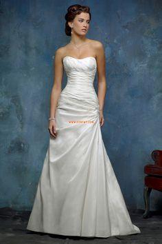 Jaro 2014 Bez ramínek Empírové Luxusní svatební šaty