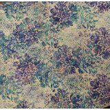 Batik Floral Pastel~ N2817-135 ~ Cotton Fabric, by Hoffman ,Fast Shipping, MB176
