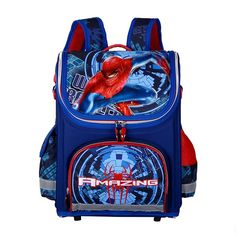 3bce181b6b96 Delune 3D Print Spiderman Themed Kids School Bags for Boys Large Capacity  Waterproof Folded Character Backpack