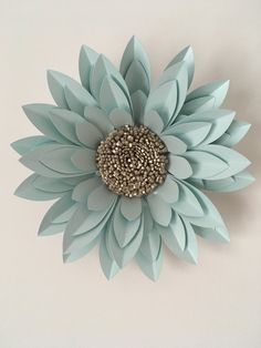 "40cm (16"") Dahlia created from pearlescent card and paper"