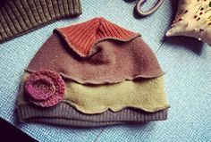 Hat made using recycled scraps