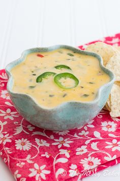 Spicy Queso Blanco (the messy baker blog) - This was easy to put together and was a hit. I used medium cheddar instead of white cheddar and a green bell pepper instead of red and kept it warm in a small crock pot.
